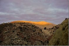 Sunset on Yellow Rock from across Cottonwood Canyon