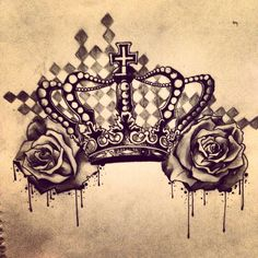 Crown with roses
