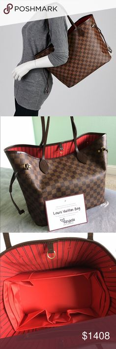 LOUIS VUITTON neverfull MM DAMIER Beautiful bag.... open to trade.. Also listed in my other closet @shindru Louis Vuitton Bags