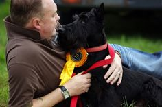 Uniquely Scottie: the only breed I know of, where direct eye-contact is NOT a sign of aggression... they are looking into your heart & soul-- truly!