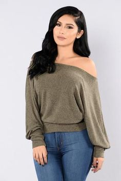 Side Track Sweater - Olive