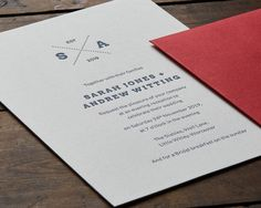 Gorgeous contemporary letterpress wedding invitations featuring a bespoke wedding logo with your personalised initials. This elegant wedding invitation has a stylish simplicity and is handprinted in the UK. Letterpress Wedding Invitations, Wedding Logos, Elegant Wedding Invitations, Classic Wedding Stationery, Initials, Groom, Bride, Bridal, Grooms