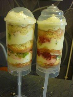 Push cake kiwis framboises