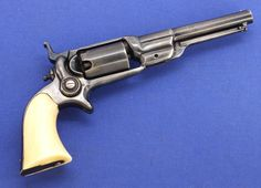 """A very nice antique Colt """"Root"""" Sidehammer Pocket Revolver. .31 cal, length 23.5 cm, with ivory grip, in very good condotion. Price 2.150 euro"""