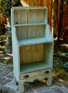 Handmade Furniture Cute Cabinet Wooden Shelf by honeystreasures