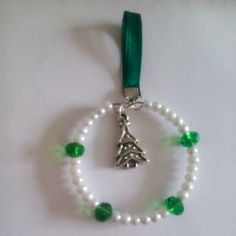 White and green Christmas Tree decoration £1.50