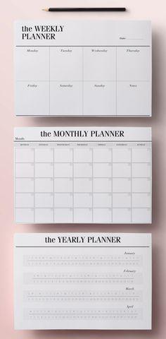 Planer Woche/ Monat/ Jahr Printables                              …