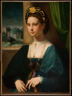 Domenico Puligo, Portrait of a Lady, Ball State University Museum of Art Mode Renaissance, Costume Renaissance, Renaissance Kunst, Renaissance Portraits, Renaissance Paintings, Renaissance Fashion, Renaissance Clothing, Italian Renaissance, Italian Outfits
