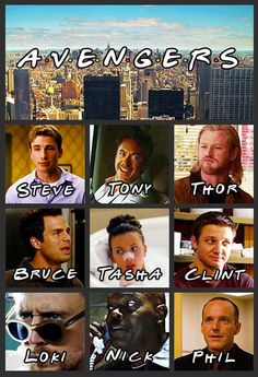 Avengers are Friends - Funny poster for The Avengers but Friends style.