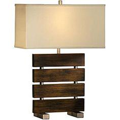 Nova Lighting 'Divide' 1-light Wood Reclining Table Lamp