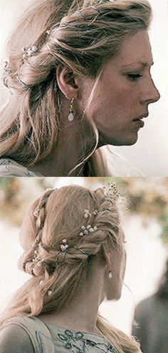 Lagertha s wedding hair viking vikings viking_hair wedding wedding_hair winnick history bridal hair blonde bride beachy blonde synthetic lace front wig Nordic Wedding, Viking Wedding, Medieval Wedding, Viking Braids, Viking Hair, Trendy Hairstyles, Wedding Hairstyles, Lagertha Hair, Bridal Hair
