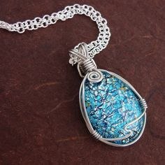 Blue Fire Opals Neckless | Blue Fire Opal Necklace by chileandreamer on Etsy