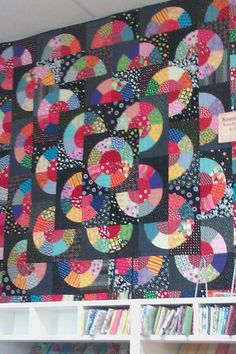 Mary Mashuta Confetti Dots. Made this for my granddaughter, Lauren. It reminds me of record albums.