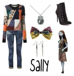 """""""Sally from The Nightmare Before Christmas"""" by krusi611 ❤ liked on Polyvore featuring Étoile Isabel Marant, Chloé, BCBGMAXAZRIA and The Cambridge Satchel Company"""