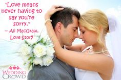 Don't You Just LOVE inspiration? http://blog.weddingcrowd.com/inspirational-wedding-quotes-50/