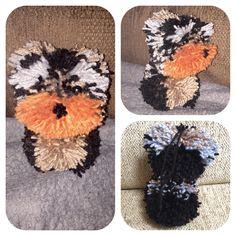 Homemade craft Yorkshire terrier Pom Pom dog