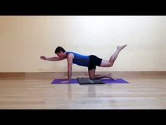 A new variation on a modern yoga pose sometimes called Hunting Dog or Bird Dog, this new variation will challenge your balance a bit more than the old versio. Yoga Balance Poses, Balance Exercises, Dog Poses, Scorpion, Cancer, Challenges, Teaching, Dogs, Youtube