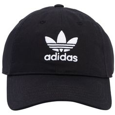 Adidas Originals Women Logo Embroidered Twill Baseball Hat ($26) ❤ liked on Polyvore featuring accessories, hats, black, twill baseball cap, ball cap, embroidered baseball caps, ball cap hats and embroidered ball caps
