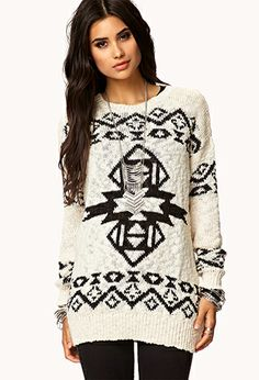 Southwestern Boyfriend Sweater | FOREVER21 - Get 4% cash back at Forever21 http://www.studentrate.com/all/get-all-student-deals/Forever21-Student-Discounts--/0