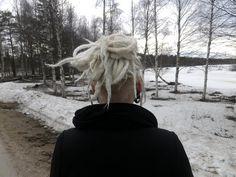 Martje: White dreads and undercut