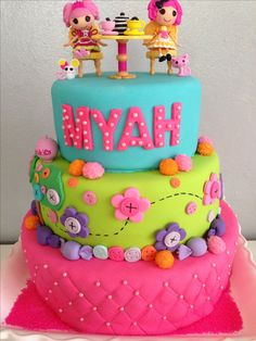 Lalaloopsy party cake