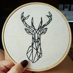 bordado-stickerei-geometrische-diy-stickerei-sticken-stickring-stickra/ - The world's most private search engine Geometric Embroidery, Simple Embroidery, Shirt Embroidery, Hand Embroidery Patterns, Cross Stitch Embroidery, Diy Embroidery Ring, Embroidery Sampler, Embroidery Needles, Geometric Deer