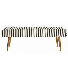 Housedoctor Bankje 'Bench Stripe' zwart/wit gestreept 115x40x40 cm - wonenmetlef.nl