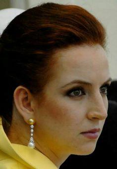 Lalla Salma's pearl and diamond earrings.