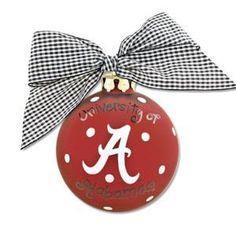 University of Alabama school logo ornament