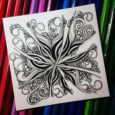 "229 Likes, 7 Comments - Rebecca Kuan CZT (@rebeccasecretbox) on Instagram: ""Zentangle 042516. #zentangle #zendoodle #doodle #doodleart #drawing #draw #painting #art #artwork…"""