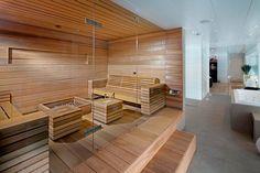 Sauna - done well Sauna Steam Room, Sauna Room, Design Sauna, Design Design, House Design, Interior Design, Modern Saunas, Sauna Hammam, Finnish Sauna