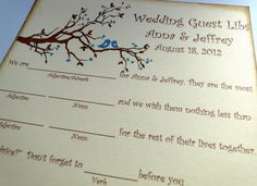 Wedding Guest Book Alternative MadLib Cards  by TheTrendySparrow, $40.00 - LOL