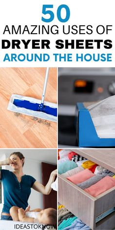 Diy Home Cleaning, Household Cleaning Tips, House Cleaning Tips, Cleaning Hacks, Daily Life Hacks, Useful Life Hacks, Bounce Sheets, Dryer Sheet Hacks, Uses For Dryer Sheets