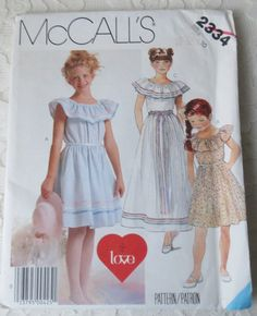 McCalls Vintage 1986 Sewing Pattern 2334 Sundress Dress by dreamy1 (Craft Supplies & Tools, Patterns & Tutorials, dress, Size A, simplicity, pattern, coat, McCalls 2334, 1986, vintage)