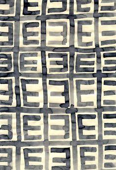 Leanne Shapton, pattern