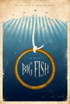 Big Fish alternative film poster designed by Adam Rabalais