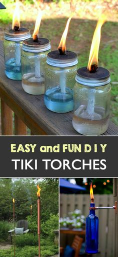 Here are some fun and creative DIY Tiki Torches that you can try in your garden. #Garden #DIY
