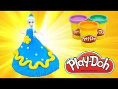 """Disney Princess Dresses part 1- Elsa's dress """"Frozen"""" - Play Doh, Elza ''Kraina Lodu'' - YouTube #disney, #disneyprincess, #elsa, #frozen, #playdoh, #krainalodu #creativefun #creativekids #forkids https://www.facebook.com/littlefive.org"""