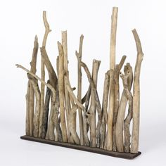 Im not paying 375. what a great idea for a craft with the kids in the fall. Wood Sculpture $375
