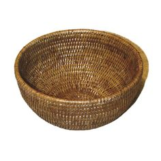 A rattan bowl is perfect for holding fruits and veggies on a kitchen island or counter. | $50