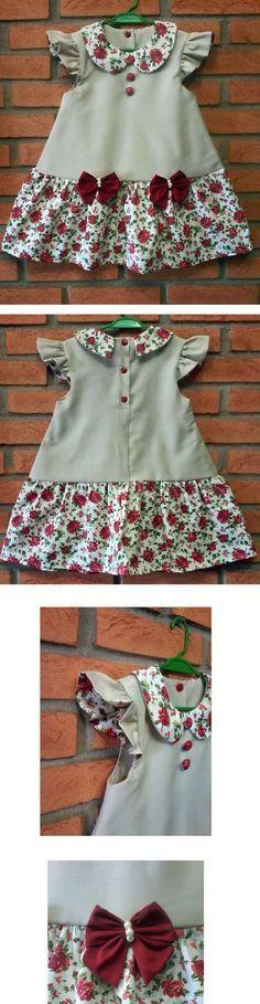 Moda infantil baby dresses 16 new ideas Girls Frock Design, Baby Dress Design, Kids Frocks Design, Baby Frocks Designs, Baby Girl Frocks, Frocks For Girls, Little Girl Dresses, Girls Dresses, Baby Dresses