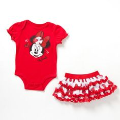 Newborn Minnie Mouse Bodysuit and Skirt - Infant Character Sets - Events