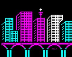 Textcity by Frederic Cambus | check out: International Teletext Art Festival - powered by German TV-station ARD