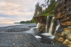 Sandcut Falls, Vancouver Island,Sandcut Beach,BC West Coast