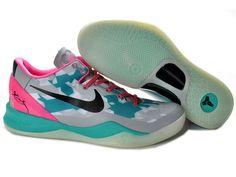 separation shoes 41d3c a9990 Nike Kobe 8 Zoom Kobe Viii Elite South Beach Wolf Grey Pink Cherry Tiffany  Blue 555035 Blue Free Runs 8