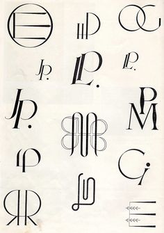 Embroidery monogram patterns from 1950  Ommeltavia kirjaimia, WSOY 1950 - A Finnish book of embroidery patterns