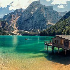 """Lago di Braies, Pragser Wildsee, Bolzano, Italy | Photography by ©Giogio Galano"""