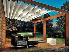 backyard pergola -pool   tende per interni tende da esterno tende tecniche strutture in legno ...