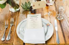 Rustic floral place setting