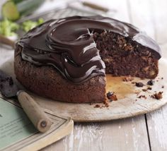 This chocolate courgette cake is a great way to use up a glut from your garden.